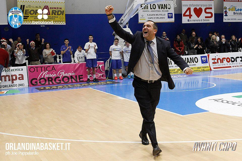 Lega A PosteMobile 2016-17 Quarti di finale gara 3: coach Gennaro Di Carlo dopo la sconfitta dell'Orlandina in casa con Milano