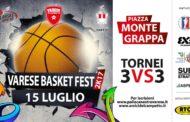Giovanili 2017-18: in Piazza Montegrappa a Varese il #VareseBasketFest 2k17 con torneo di basket 3x3 by Pallacanestro Varese