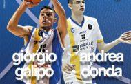 Lega A PosteMobile Mercato 2017-18: la Betaland Capo D'Orlando promuove in prima squadra Giorgio Galipò ed Andrea Donda