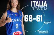 Nazionali 2016-17: pronto riscatto delle Azzurre ad EuroBasket Women 2017 battuta la Slovacchia e domani spareggio vs l'Ungheria alle 20:30