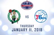 NBA 2018: in programma tra Celtics e 76ers per NBA Global Game London 2018