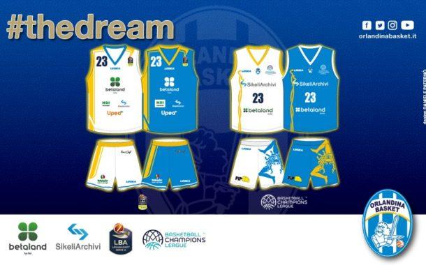 Precampionato Lega A PosteMobile 2017-18: presentate le nuove maglie per la nuova stagione dell'Orlandina Basket per l'Italia e l'Europa