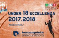Giovanili 2017-18: stilato il calendario per l'U18M Eccellenza del Latina Basket