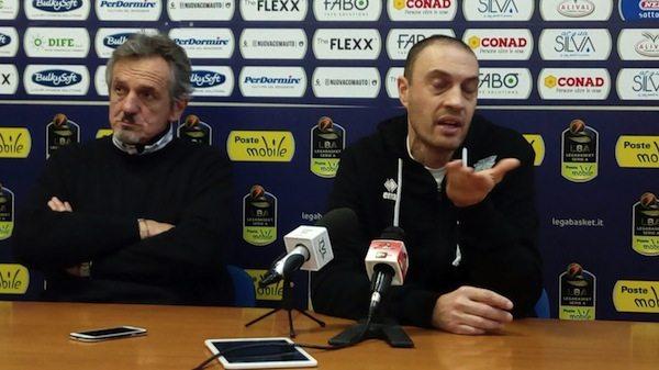 Lega A PosteMobile 2017-18: A.S. Pistoia Basket 2000 la conferenza stampa di Maltinti ed Esposito