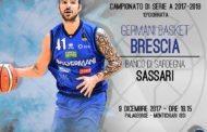 Lega A PosteMobile 2017-18: la capolista Germani Basket Brescia riceve nell'anticipo di sabato la Dinamo Sassari