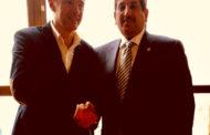 Lega A PosteMobile 2017-18: la Dinamo Banco di Sardegna ha incontrato l'ambasciatore del Qatar