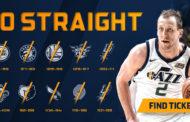 NBA 2017-18 nella notte del 12 Febbraio vincono i Jazz e allungano a 10 le vittorie consecutive