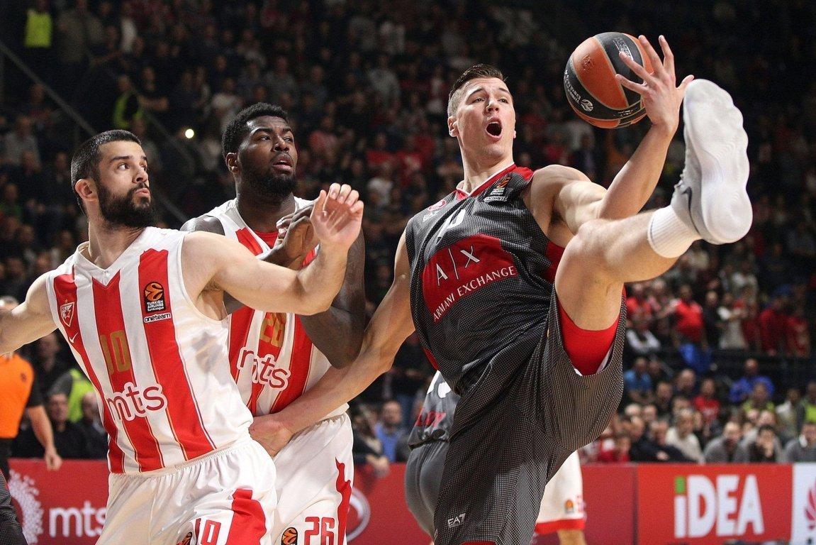 Euroleague 2017-18: troppa Stella Rossa a Belgrado e Milano ammaina bandiera 100-89