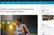 Serie C Silver Puglia 2017-18: Fernando Fernadez del Cus Jonico Taranto e la sua intervista con Zona de Basquet