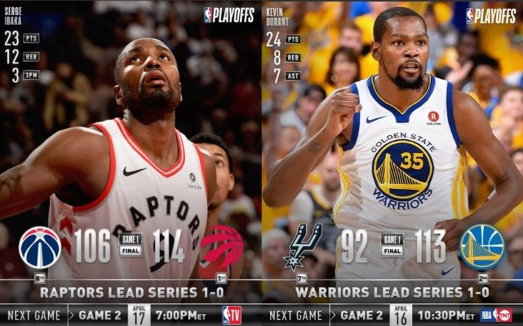 NBA Playoff 2017-18: aspettando gara-2 ecco gara-1 tra Warriors e Raptors, le chiavi del successo