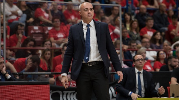 Lega A PosteMobile Playoffs 2018: il commento di coach Sodini dopo Gara1 tra EA7 Milano e Red October