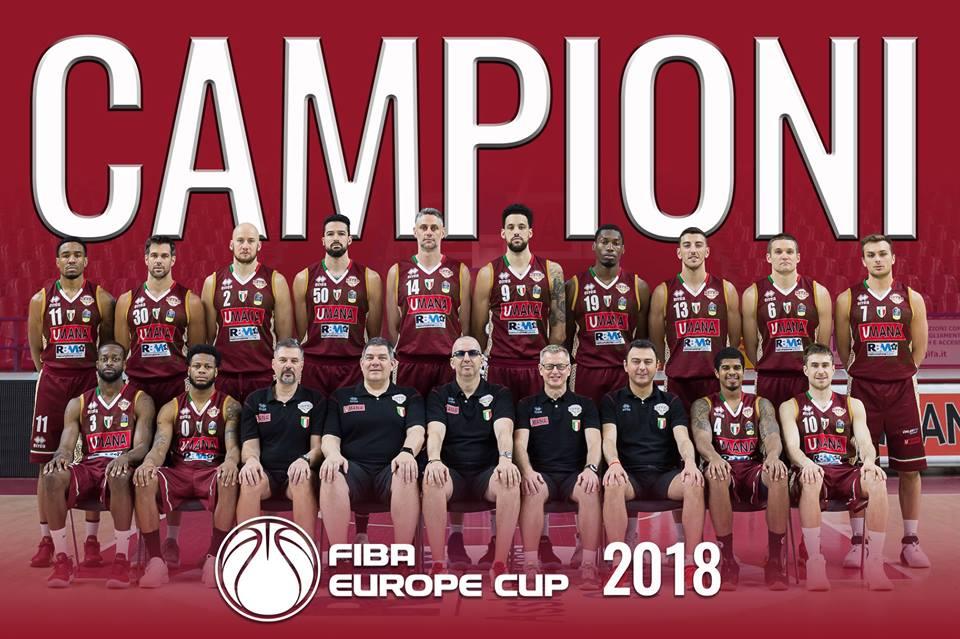 FIBA Europe Cup Finals #Match2 2017-18: la Coppa è di una perfetta Umana Reyer Venezia battuta Avellino 81-79
