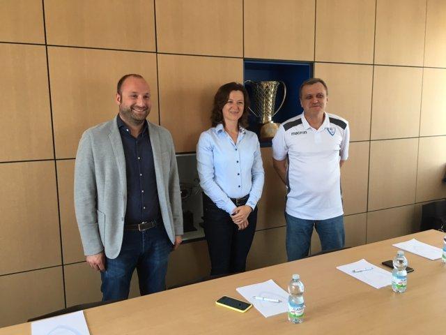 Lega A PosteMobile 2017-18: conferenza stampa di fine stagione della Red October Pallacanestro Cantù