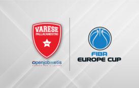 FIBA Europe Cup 2018-19: la Pallacanestro Varese ufficializza la sua partecipazione alla manifestazione insieme a Sassari