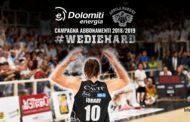 Lega A PosteMobile precampionato 2018-19: a Trento parte la nuova campagna abbonamenti #WieDieHard 2018-19