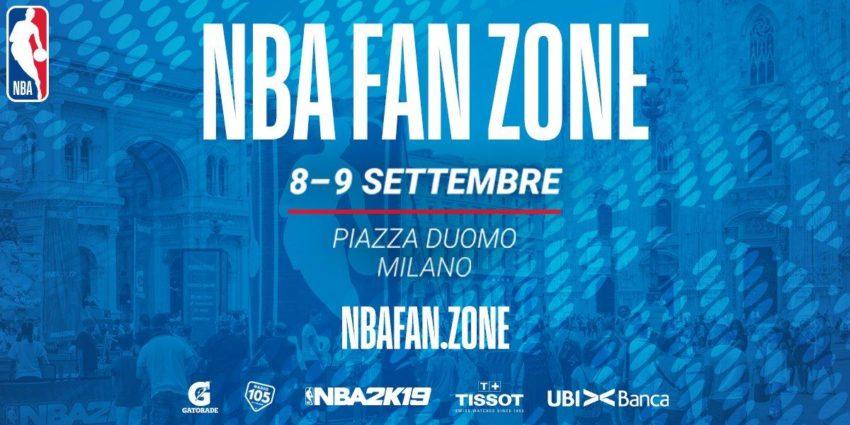 NBA 2018-19: l'NBA Fan Zone sbarca a Milano l'8 ed il 9 Settembre