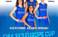 FIBA 3x3 Europe Cup 2018: venerdì 14 settembre le campionesse del mondo dell'Italbasket Rosa in Romania per il titolo europeo